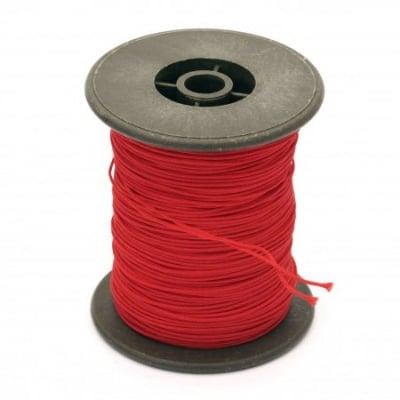 Шнур полиестер с основа корда 0.8 мм червен ~60 метра