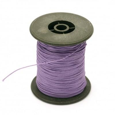 Шнур полиестер с основа корда 0.8 мм лилав светло ~60 метра