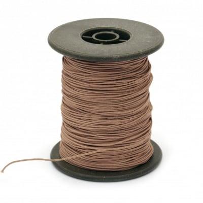 Шнур полиестер с основа корда 0.8 мм кафяв светло ~60 метра