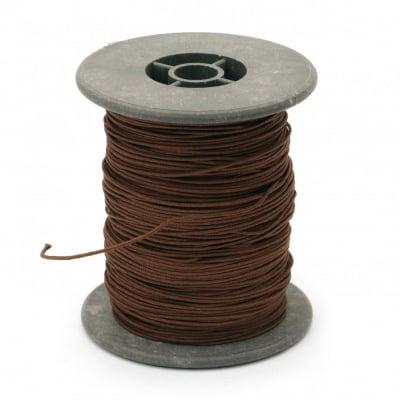 Шнур полиестер с основа корда 0.8 мм кафяв ~60 метра