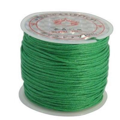 Шнур памук колосан 1 мм зелен ~25метра