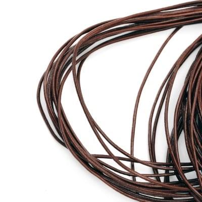Шнур естествена кожа 2 мм светло кафяв -100 метра
