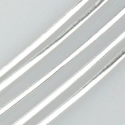 Лента изкуствена кожа 2 м цвят сребро -1 метра