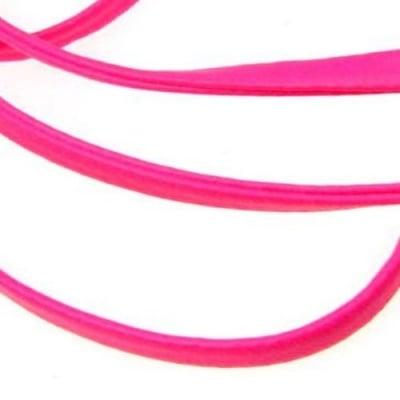 Лента изкуствена кожа 4 мм цвят розова -1 метър