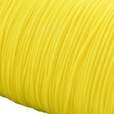 Шнур памук Корея 1 мм жълт -5 метра
