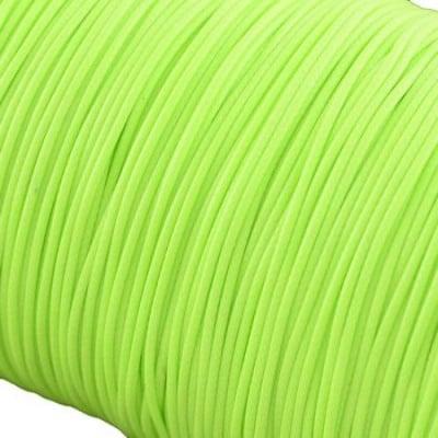 Шнур памук Корея 1 мм зелен светъл -5 метра