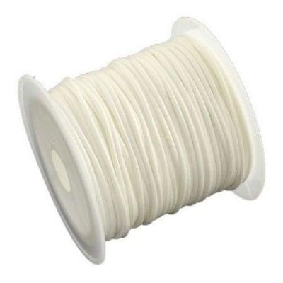 Шнур памук Корея 1 мм бял -9 метър