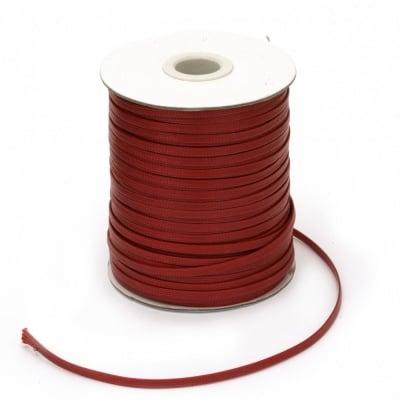 Шнур памук Корея 4x1 мм червен -10 метра