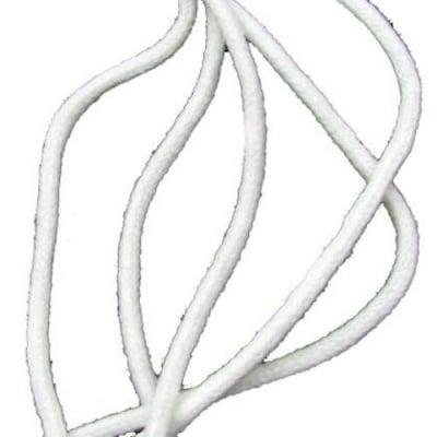 Шнур объл 3 мм ША7-19 ПАН бял - 50 метра