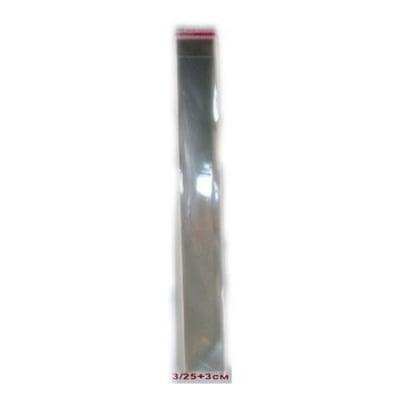 Целофаново пликче 3/25+3 см. капак залепващ 30мк. -200 броя