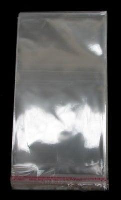 Целофаново пликче 12/20+3 см. капак залепващ 30мк. -200 броя