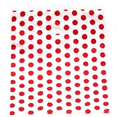 Торбичка от PE материал 60x50 см. бяла с точки