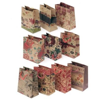 Торбичка подаръчна от картон 11x14 см цветни АСОРТЕ