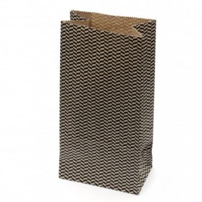 Хартиен плик за подарък с дъно 9x5.5x18 см зиг заг -12 броя