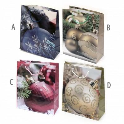 Торбичка подаръчна от картон 26x32x10 см Коледа АСОРТЕ