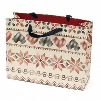 Торбичка подаръчна от картон 320x254x110 мм