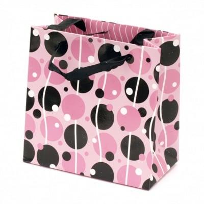Торбичка подаръчна от картон 125x125x70 мм