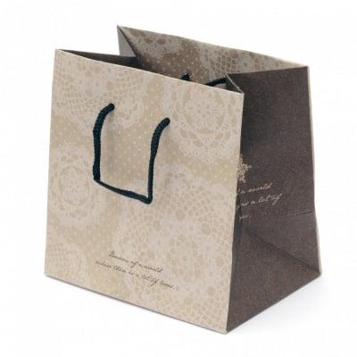 Торбичка подаръчна от картон 142x142x98 мм