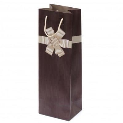 Торбичка подаръчна от картон за вино 115x350x90 мм