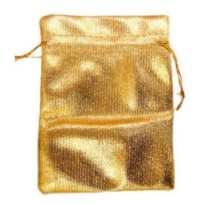 Торбичка за бижута 90х120 мм злато