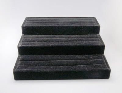 Статив за пръстени 265x245x90 мм черно кадифе