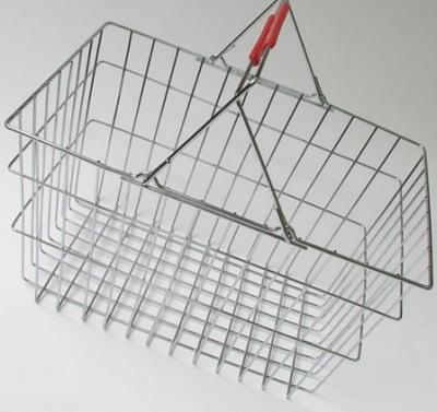 Кошница метална пазарска с 2 дръжки 40x30x22 см
