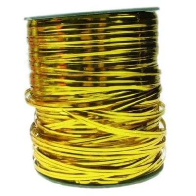 Метална лента4 мм цвят злато -1 метър