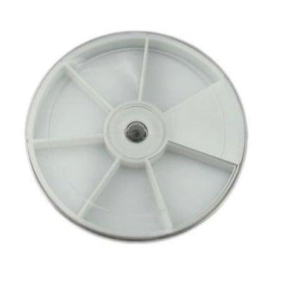 Кутия пластмасова кръгла 8x1.2 см с 6 отделения