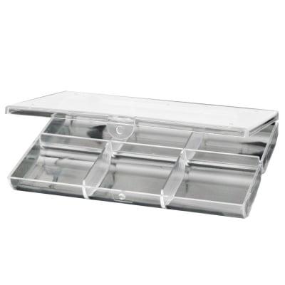 Кутия пластмасова 18.1x12.2x2.5 см 6 отделения