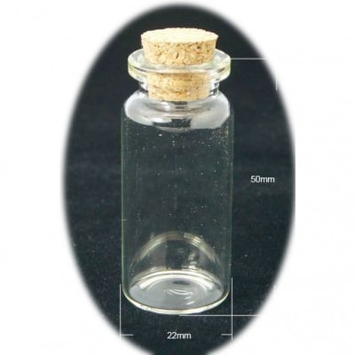 Бурканче стъкло 22x50 мм тапа корк