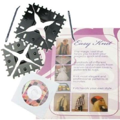 Форми за плетене на дантели 100мм + 80мм + 2 бр игли +CD с инструкции и модели
