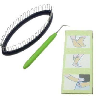 Форма за плетене на чорапи 140x50мм - машинка чорапоплетачка + кука