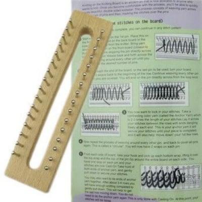 Форма за плетене на шал 160x40x35мм дървена