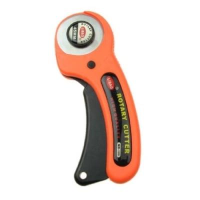 Ротационен макетен нож с диаметър 45 мм. висококачествена стомана волфрам карбид с автоматично заключване