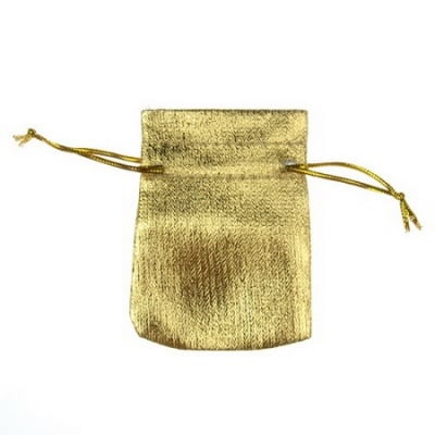 Торбичка за бижута 50х75 мм мини злато