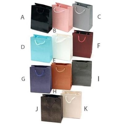 Торбичка подаръчна от картон 142x112 мм едноцветни АСОРТЕ