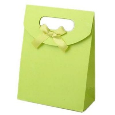 Торбичка за бижута от картон със сатенена панделка 163x123 мм -резеда