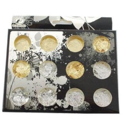 Фино фолио за декорация в кутиика 30x14 мм - сребърно