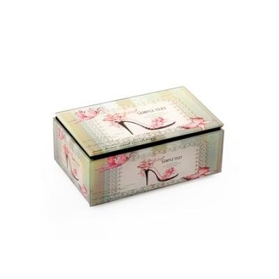 Кутия за бижута стъкло 11x6x3.7 см различни модели