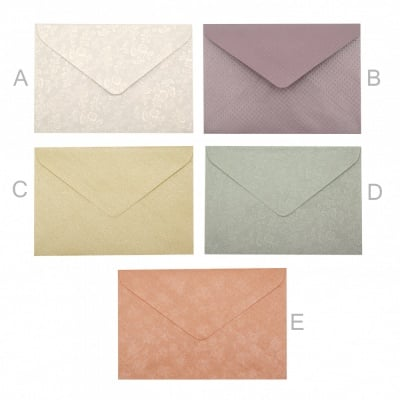Плик за картичка перлен с релеф 110x160 мм АСОРТЕ модели и цветове