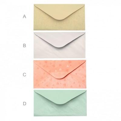 Плик за картичка перлен с релеф 110x220 мм АСОРТЕ модели и цветове