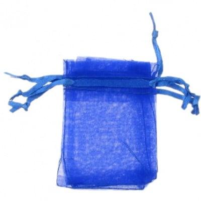 Торбичка за бижута 70x50 мм синя