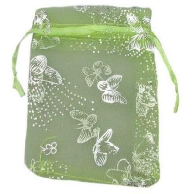 Торбичка за бижута 120x90 мм резеда със сребро
