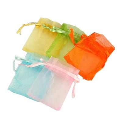 Торбичка за бижута 50x70 мм АСОРТЕ цветове