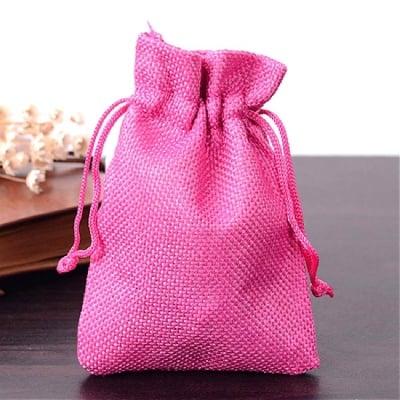 Торбичка от зебло 9x12 см розова