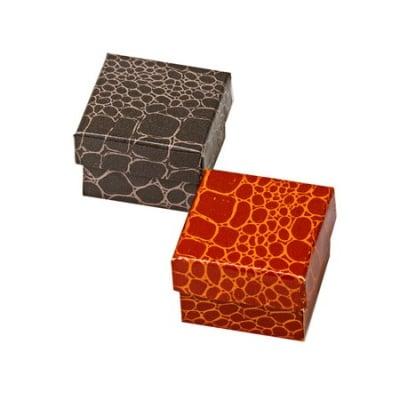 Кутийка за бижута 50x50 мм имитация кожа АСОРТЕ