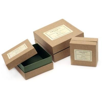 Кутия картон комплект от 3 броя -15x7.5 см, 12.2x6.2 см, 9.8x5 см Tool box
