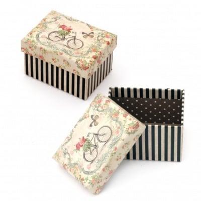Кутийка за бижута 100x75 мм картон със Best Wishes
