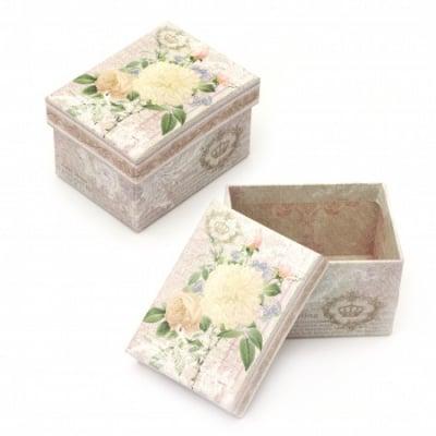 Кутийка за бижута 100x75 мм картон