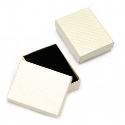 Кутийка за бижута 70x90 мм бяла